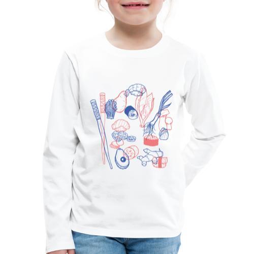 Sushi - Kinder Premium Langarmshirt