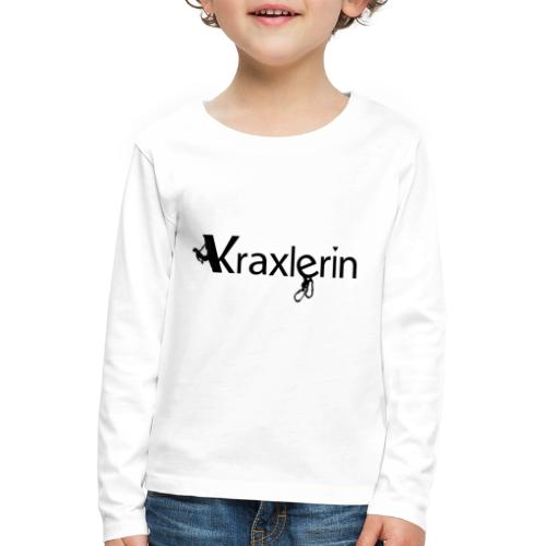 Kraxlerin - Kinder Premium Langarmshirt