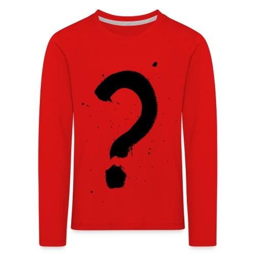 Kysymysmerkki musta - Lasten premium pitkähihainen t-paita