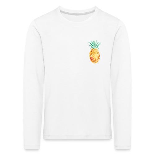 pinety logo print - Børne premium T-shirt med lange ærmer