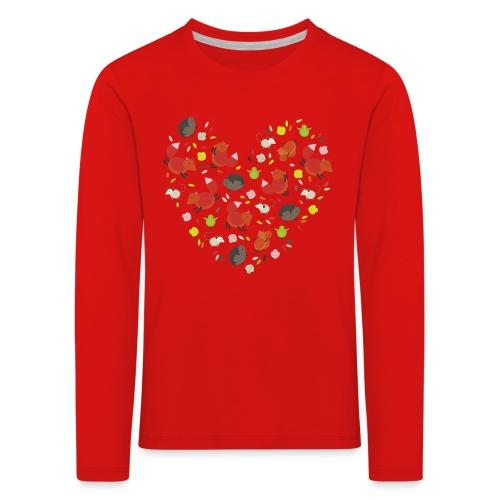 Metikössä - Lasten premium pitkähihainen t-paita