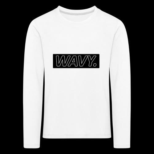 BLACK WAVY. RECTANGLE - T-shirt manches longues Premium Enfant