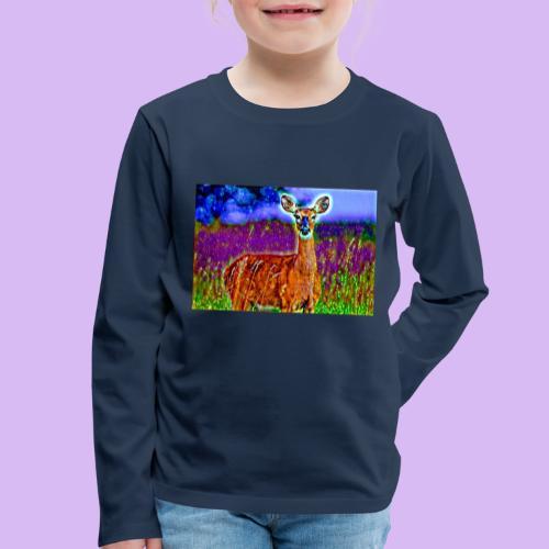 Cerbiatto con magici effetti - Maglietta Premium a manica lunga per bambini
