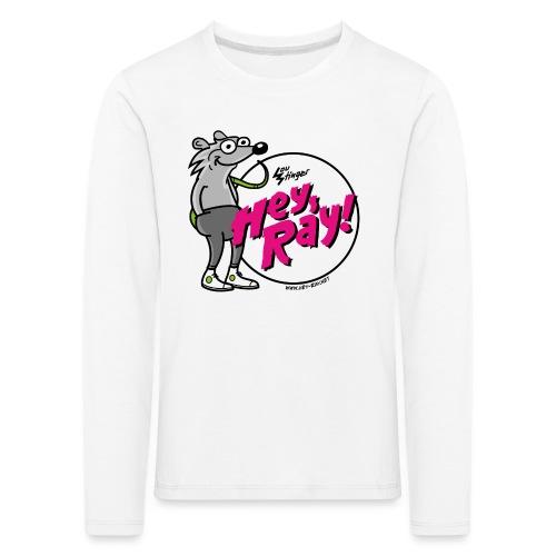 Hey Ray! Logo magenta - Kinder Premium Langarmshirt