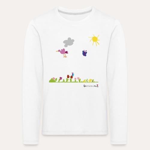 Blumenwiese von Marie - Kinder Premium Langarmshirt