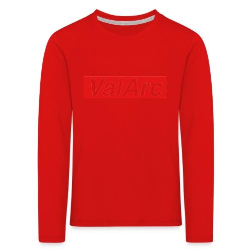 ValArc Text Merch Red Background - T-shirt manches longues Premium Enfant
