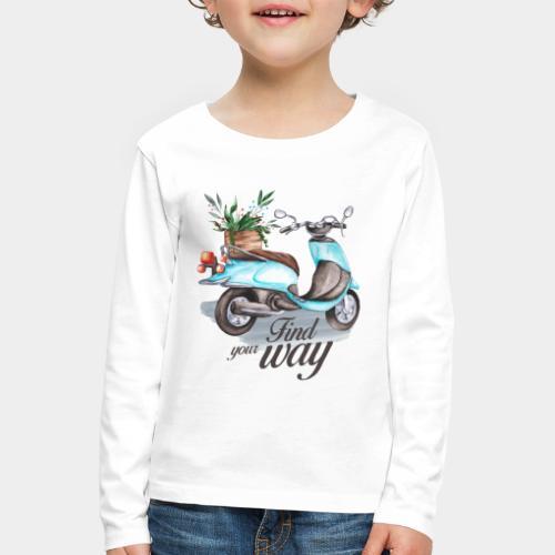 trouvez votre chemin dans la vie - T-shirt manches longues Premium Enfant