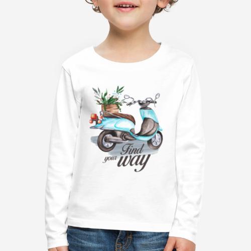 Finde deinen Weg im Leben - Kinder Premium Langarmshirt