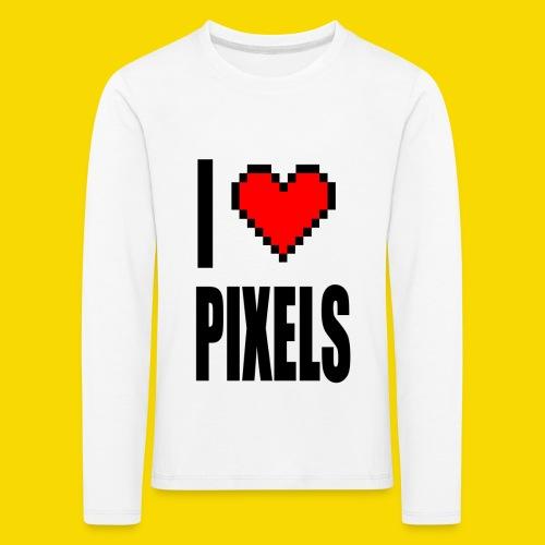 I Love Pixels - Koszulka dziecięca Premium z długim rękawem