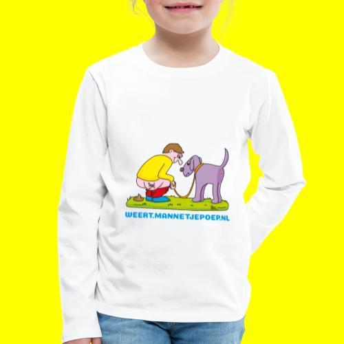 Mannetje Poep Illustratie - Kinderen Premium shirt met lange mouwen