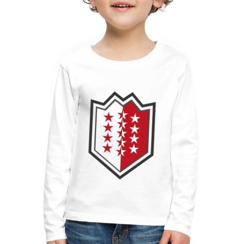 Bouclier moderne du Valais - Kinder Premium Langarmshirt