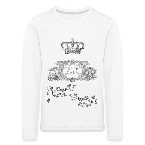 keep calm and kiss me - Camiseta de manga larga premium niño