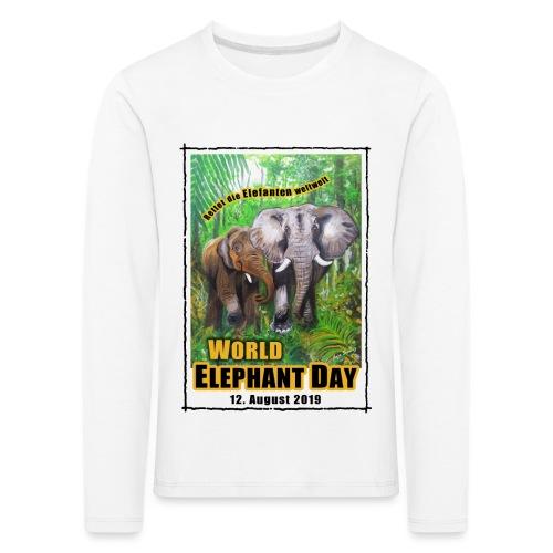 Welt-Elefanten-Tag 12. August 2019 - Kinder Premium Langarmshirt