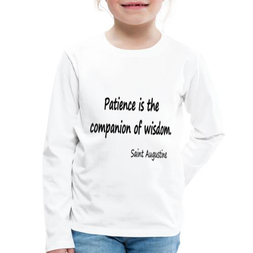 Peace and Wisdom - Kids' Premium Longsleeve Shirt