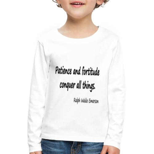 Peace and Patience - Kids' Premium Longsleeve Shirt