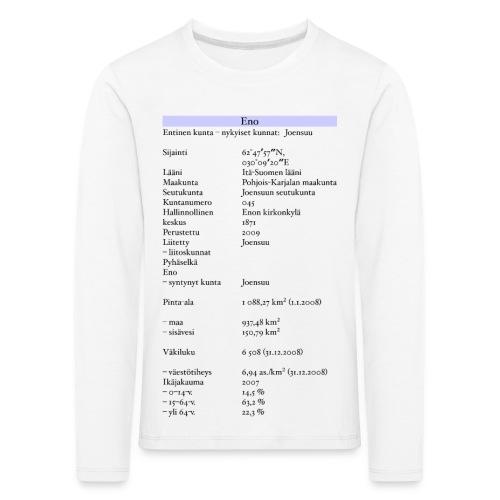 Tilastollinen Eno - Lasten premium pitkähihainen t-paita