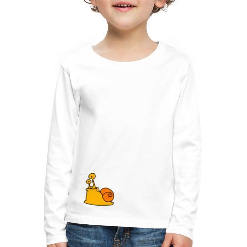 Schnecke Nr 21 von dodocomics - Kinder Premium Langarmshirt