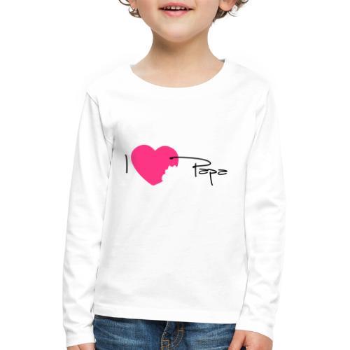 I love Papa 13 Vecto - T-shirt manches longues Premium Enfant