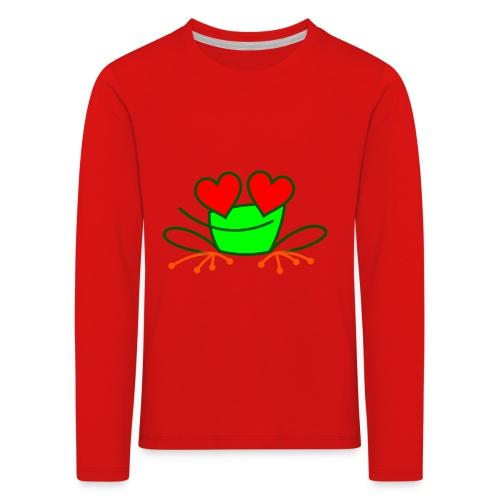 Frog in Love - Kids' Premium Longsleeve Shirt