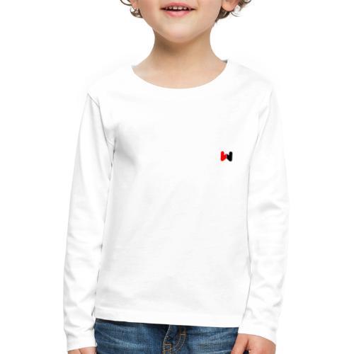 W (Black / Red Logo) - Kids' Premium Longsleeve Shirt