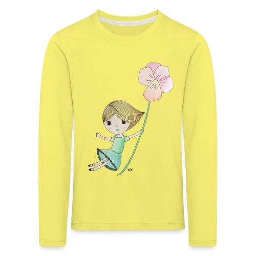 meisje met viool - Kinderen Premium shirt met lange mouwen