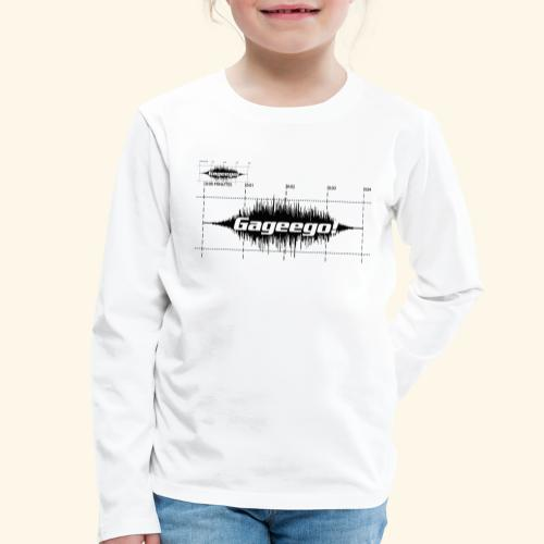Gageego logga vit text - Långärmad premium-T-shirt barn