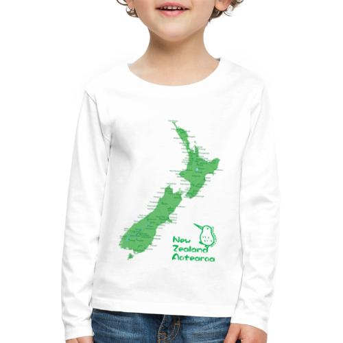 New Zealand's Map - Kids' Premium Longsleeve Shirt