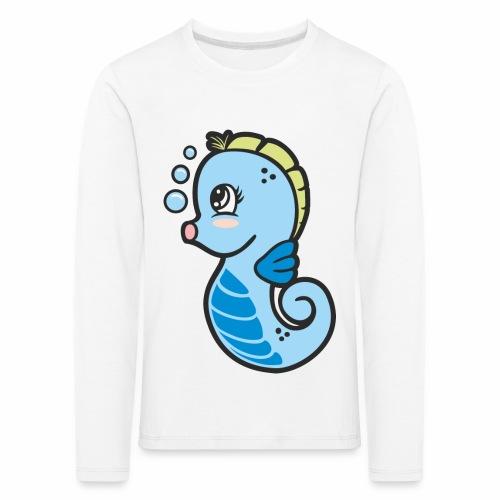 Seepferdchen blau - Kinder Premium Langarmshirt