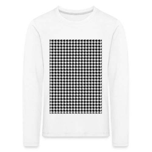 pied de poule v12 final01 - Kinderen Premium shirt met lange mouwen