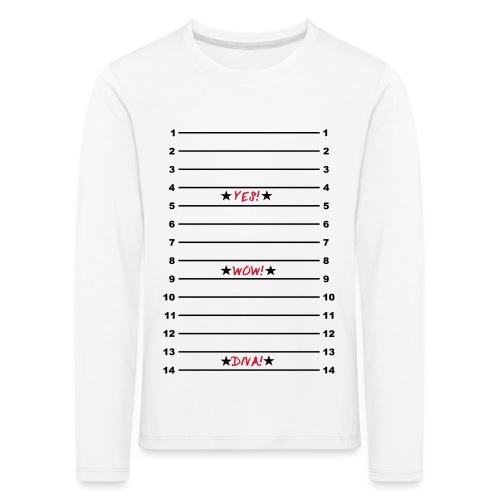 Yes Wow Diva Length Check T-Shirt - Kids' Premium Longsleeve Shirt