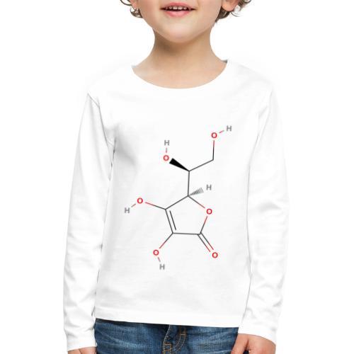 Vitamin C Molecule - Colored Structural Formula - Børne premium T-shirt med lange ærmer