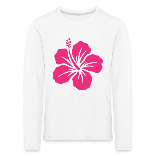 Camisetas, blusas, forros celulares de flor rosada - Camiseta de manga larga premium niño