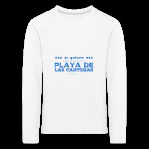 Te quiero Playa de Las Canteras - Camiseta de manga larga premium niño