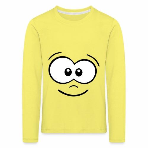 Gesicht fröhlich - Kinder Premium Langarmshirt