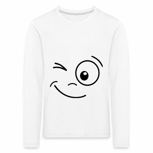 Gesicht zwinkern - Kinder Premium Langarmshirt