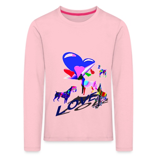 look at these dogs love - T-shirt manches longues Premium Enfant
