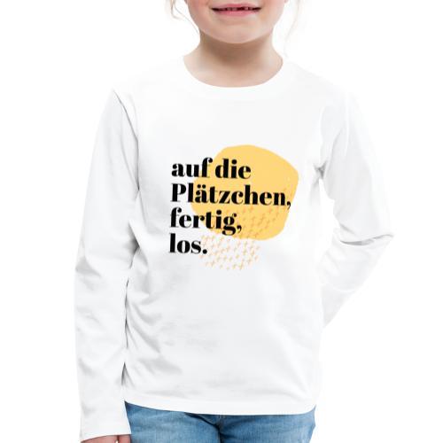 Auf die Plätzchen, fertig, los. Aquarell - Kinder Premium Langarmshirt