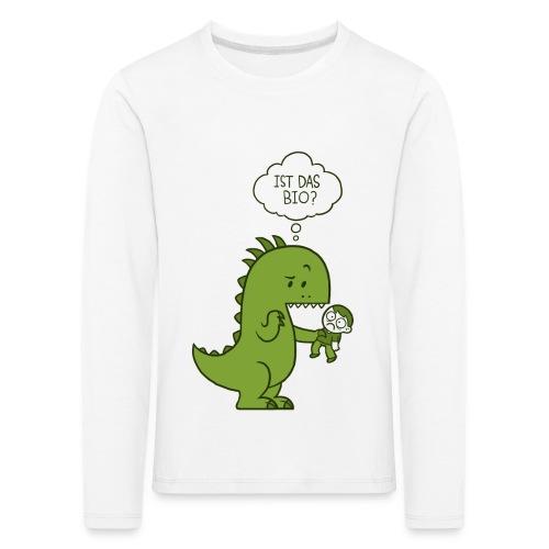 Bio-Dinosaurier - Kinder Premium Langarmshirt