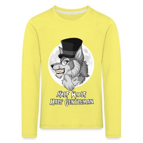 Half Wolf Half Gentleman - Koszulka dziecięca Premium z długim rękawem