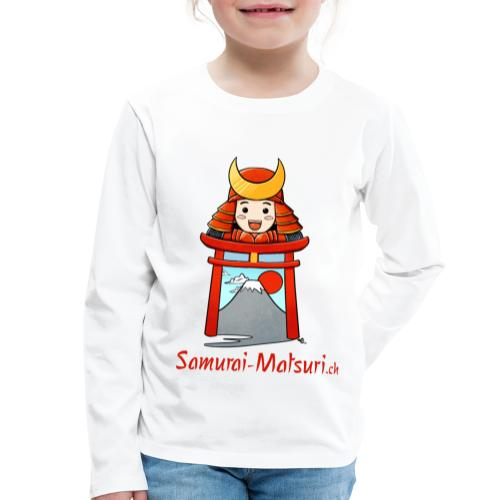 Samurai Matsuri Torii - Kinder Premium Langarmshirt
