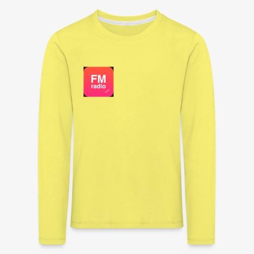 logo radiofm93 - Kinderen Premium shirt met lange mouwen