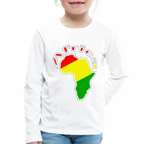Afrika - rot gold grün - Kinder Premium Langarmshirt
