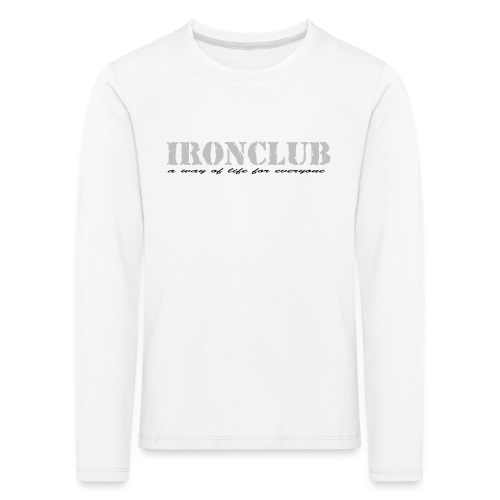 IRONCLUB - a way of life for everyone - Premium langermet T-skjorte for barn