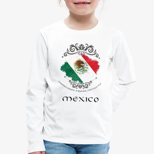 Mexico Vintage Bandera - Kinder Premium Langarmshirt