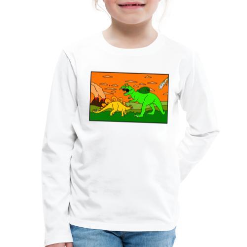 Schneckosaurier von dodocomics - Kinder Premium Langarmshirt