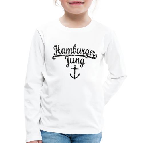 Hamburger Jung Klassik (Vintage Schwarz) Hamburg - Kinder Premium Langarmshirt