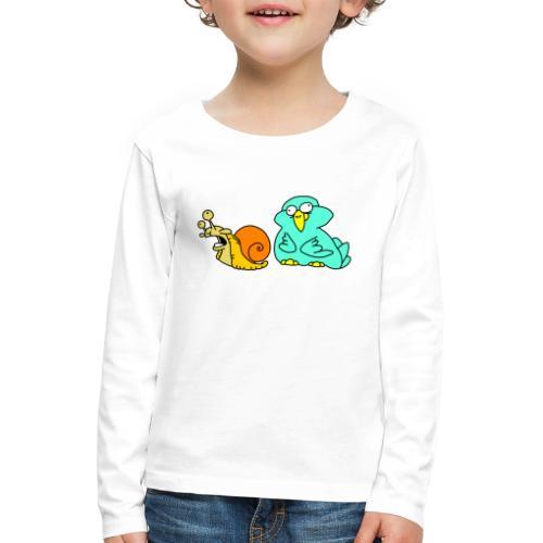 Schnecke und Vogel Nr 3 von dodocomics - Kinder Premium Langarmshirt