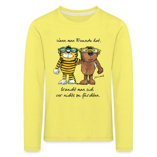 Janosch Tiger Und Bär Wenn Man Freunde Zitat - Kinder Premium Langarmshirt