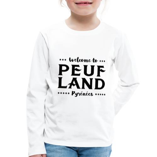 Peuf Land Pyrénées - Black - T-shirt manches longues Premium Enfant