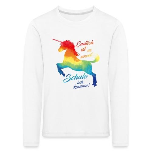 Einhorn_Schule.png - Kinder Premium Langarmshirt